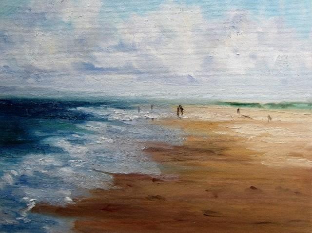 """A rolling wave study"" original fine art by Astrid Buchhammer"