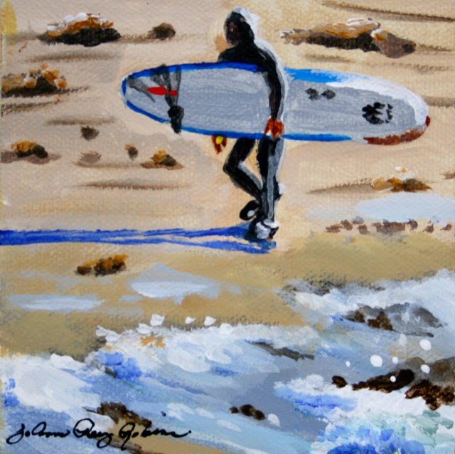 """Wave Rider"" original fine art by JoAnne Perez Robinson"