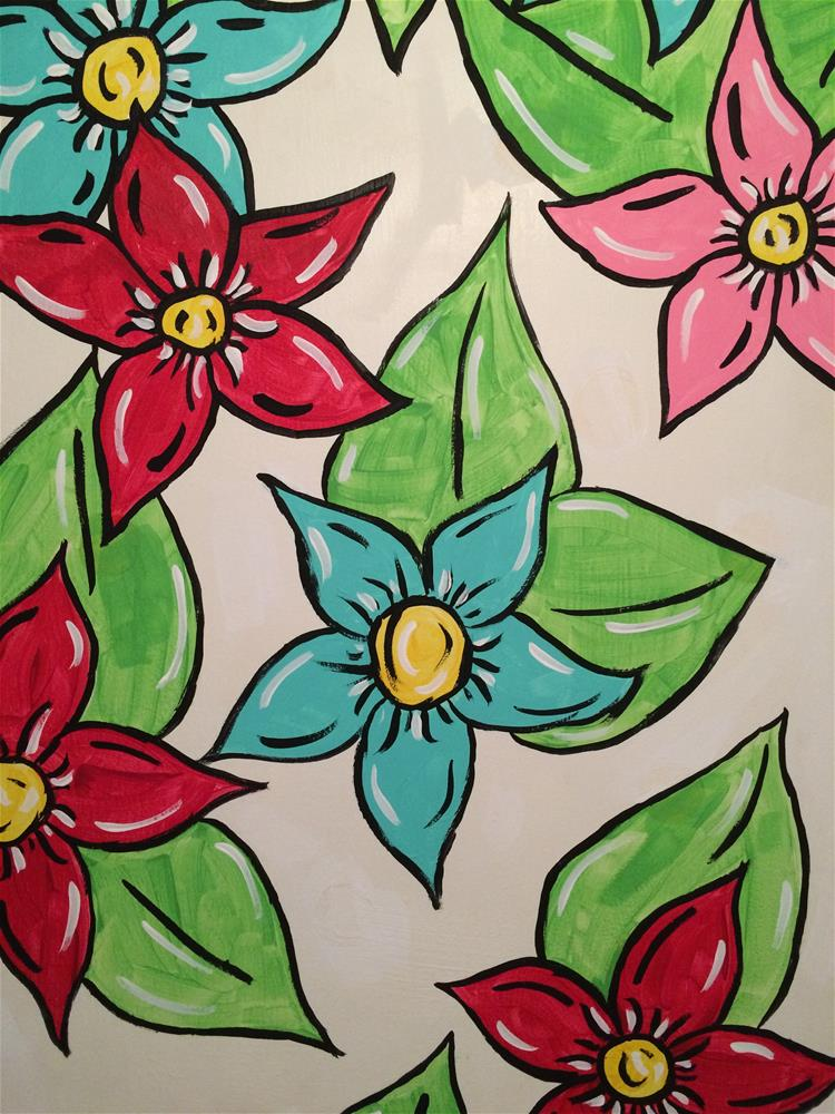 """All Flowery and Fabulous"" original fine art by Kali Parsons"
