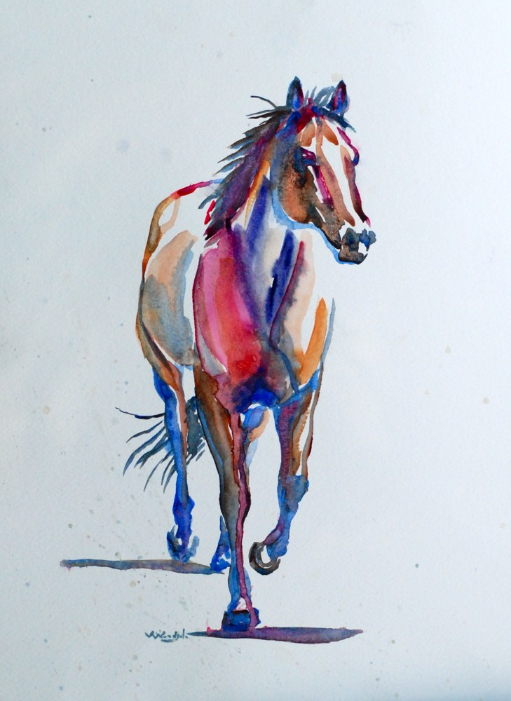 """Sam a Quarterhorse"" original fine art by Vicki Wood"