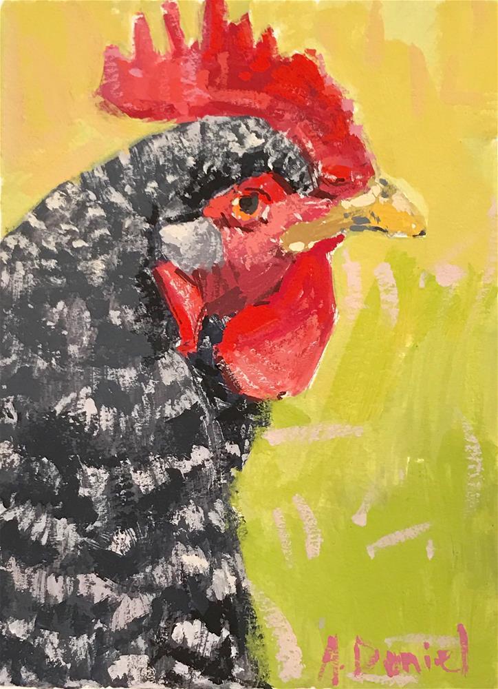 """Chicken Head #8"" original fine art by Andrew Daniel"