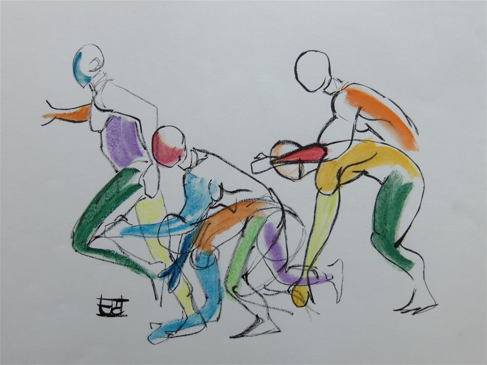 """Men in Action"" original fine art by Arron McGuire"