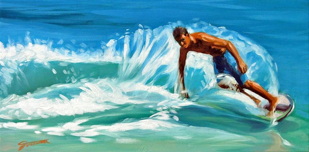 """Cool Water Play"" original fine art by Joanna Bingham"