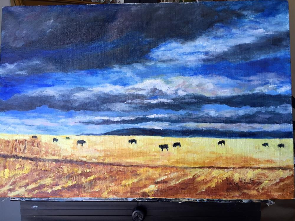 """Montana Gold"" original fine art by Lucy Hammett"