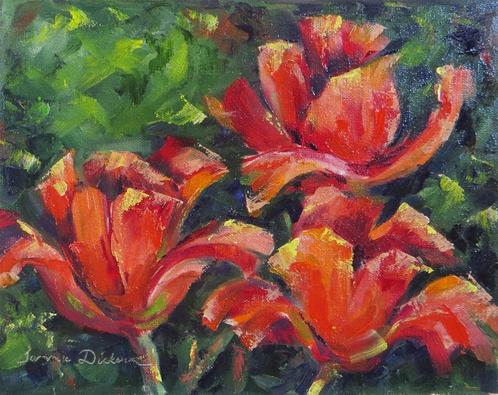 """Elizabeth's Tulips"" original fine art by Tammie Dickerson"