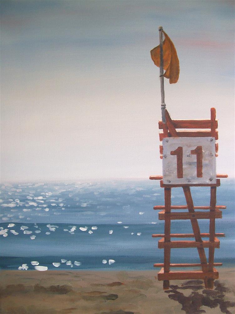 """Hampton Beach"" original fine art by Christine Blain"