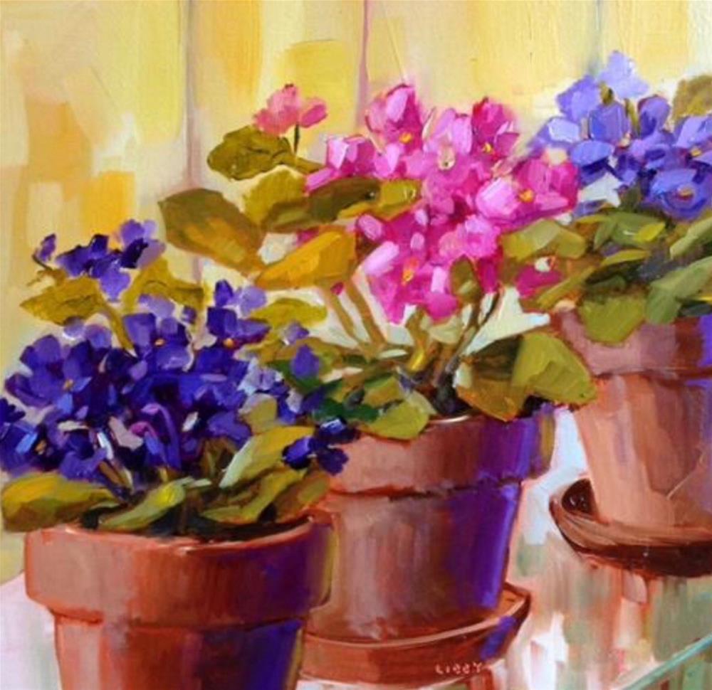 """Ultra Violets"" original fine art by Libby Anderson"