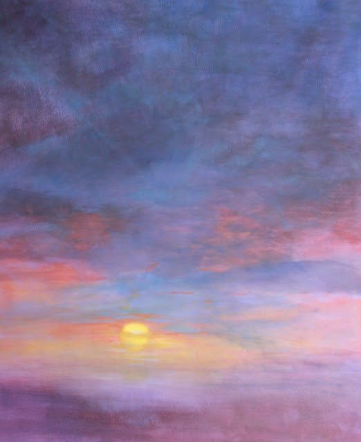 """Sunset, Landscape Fine Art Oil Painting SUNSET SKY 2 by Colorado Artist Susan Fowler"" original fine art by Susan Fowler"