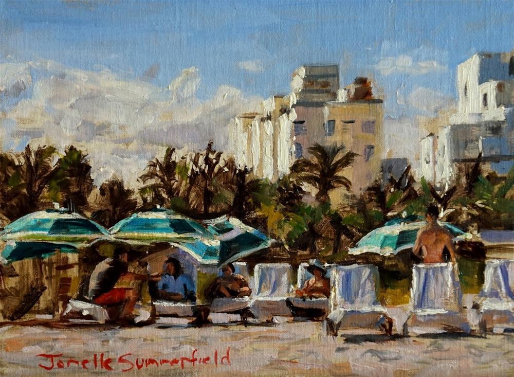 """""""Miami Beach II"""" original fine art by Jonelle Summerfield"""