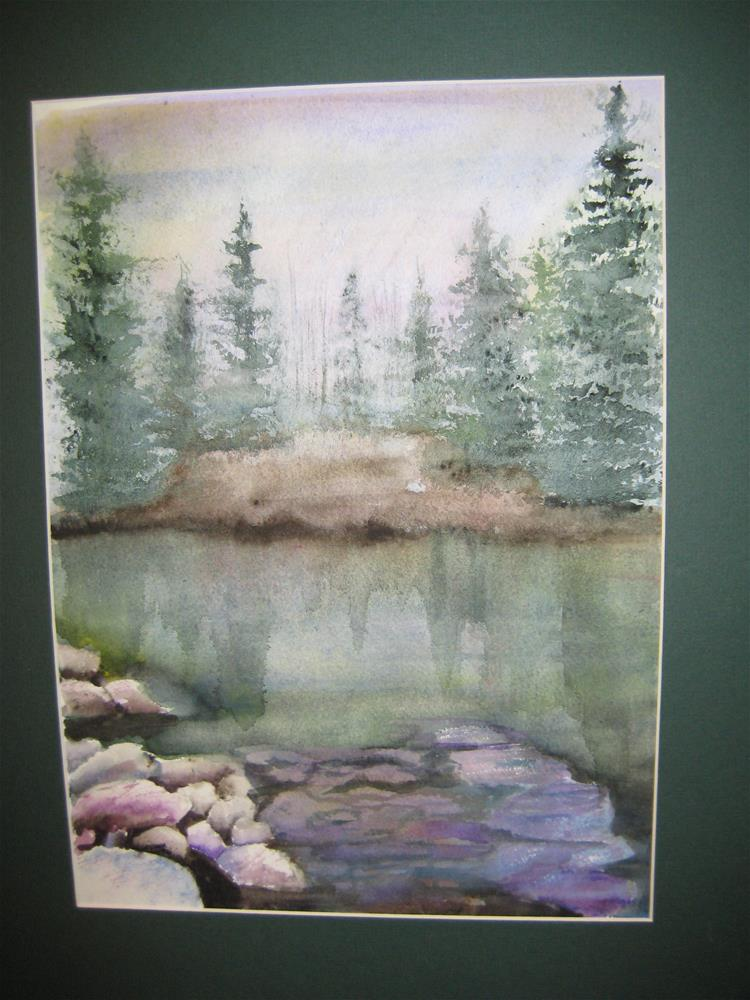 """Fishin' Hole"" original fine art by Susan Brens"