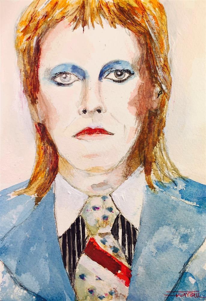 """""""David Bowie -Life on Mars-"""" original fine art by Ferran Llagostera"""
