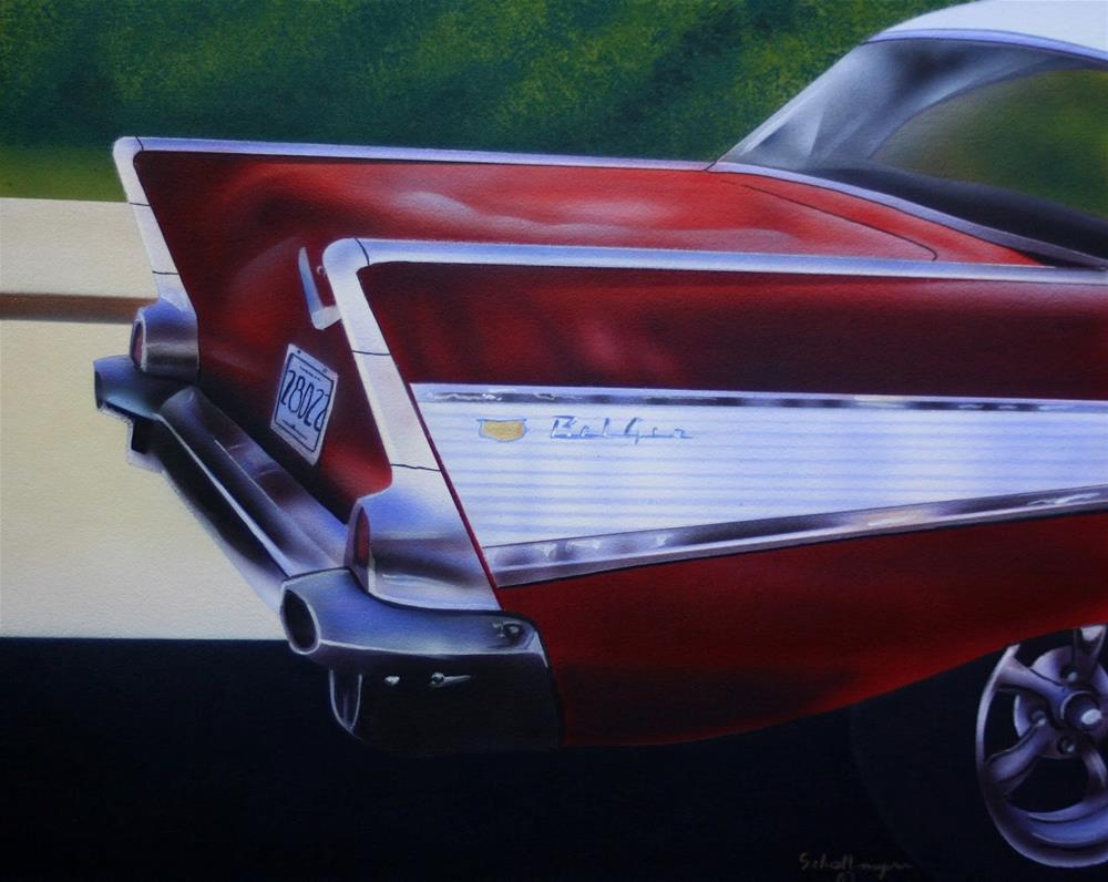 """'57 Bel Air"" original fine art by Fred Schollmeyer"