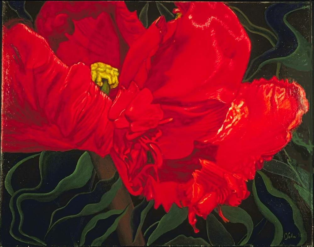 """Tulip Dance"" original fine art by Carol Sakai"