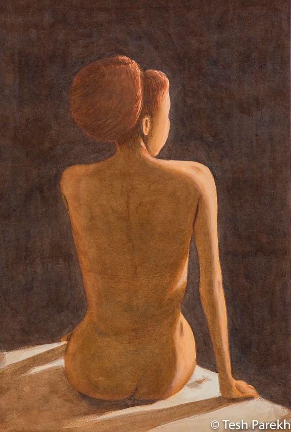 """Nude"" original fine art by Tesh Parekh"