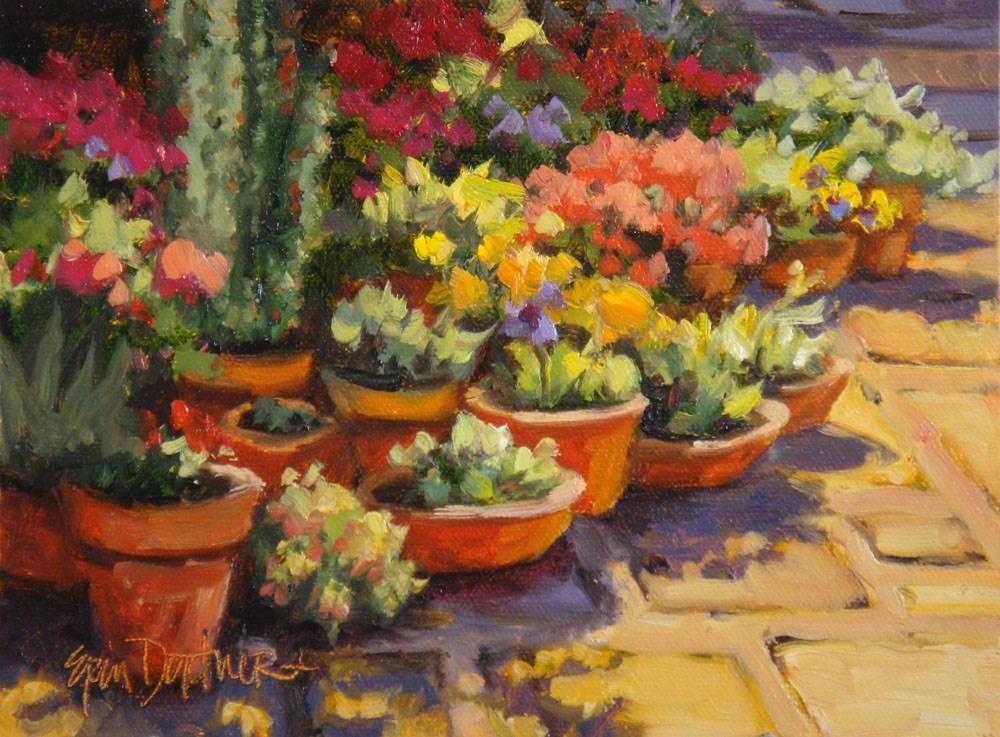 """Terra Cotta Garden"" original fine art by Erin Dertner"