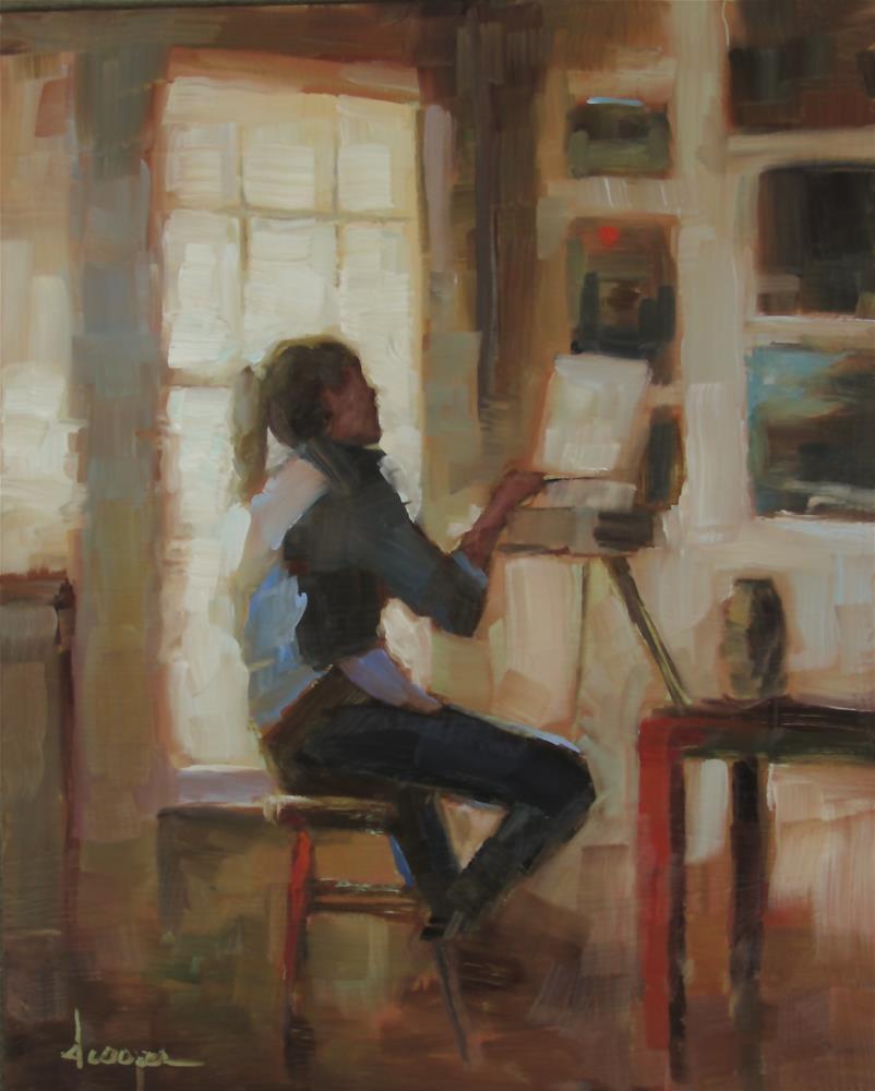 """The Painter"" original fine art by Dana Cooper"