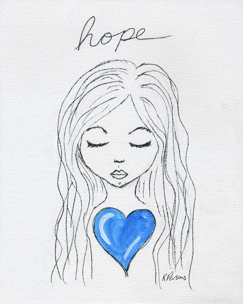 """Hope"" original fine art by Kali Parsons"