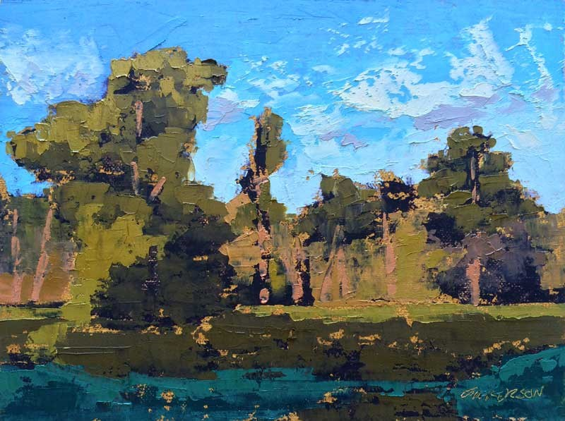 """Late Afternoon on the Pee Dee"" original fine art by Mary Gilkerson"