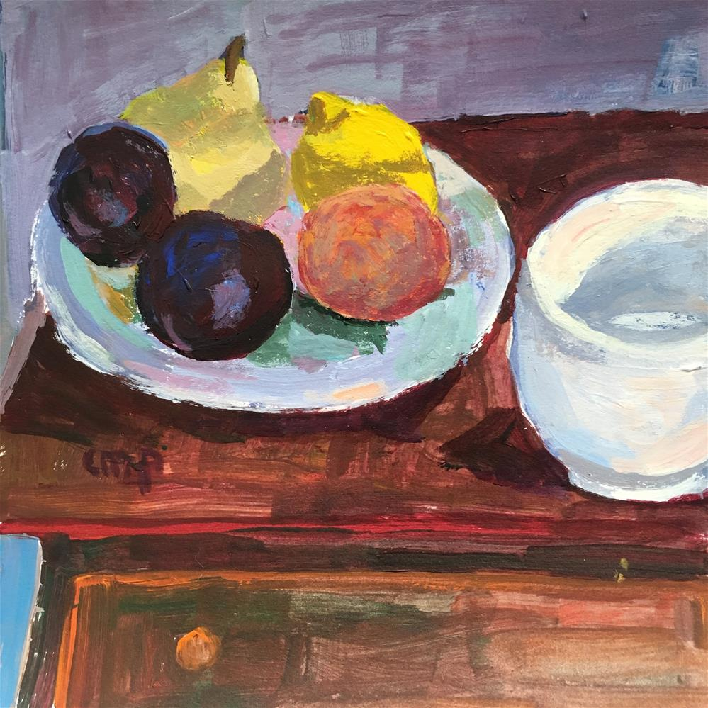 """Still Life with Fruit"" original fine art by Christine Parker"