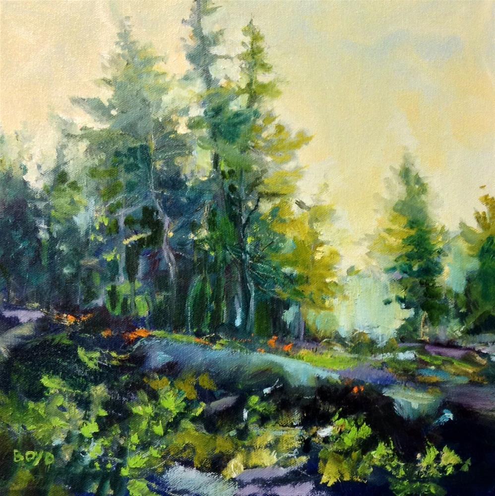 """Golden Green"" original fine art by Cathy Boyd"