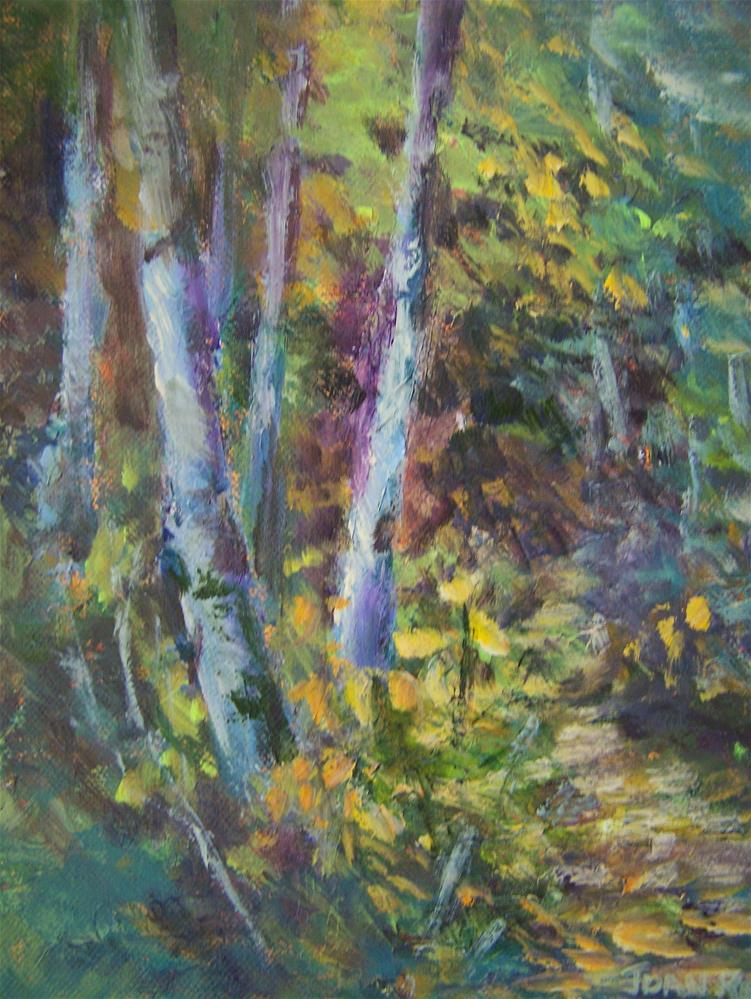 """A Walk in the Woods"" original fine art by Joan Reive"