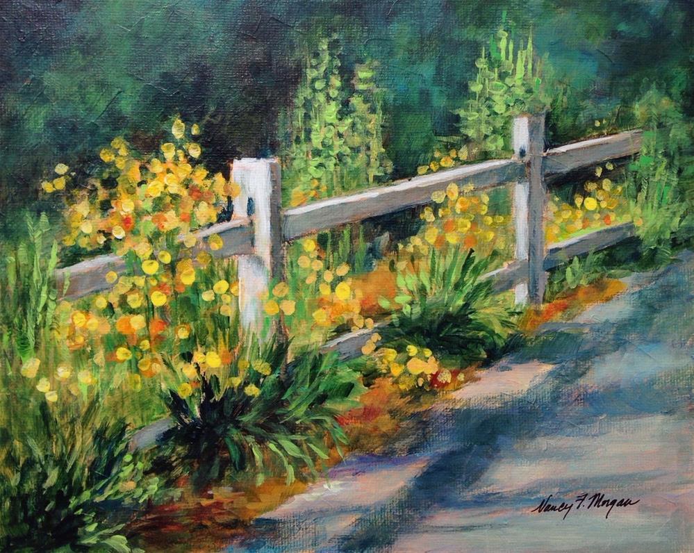 """""""Roadside Garden"""" original fine art by Nancy F. Morgan"""
