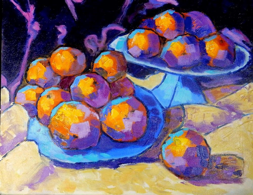 """Colorful Cezanne"" original fine art by Phyllis Davis"