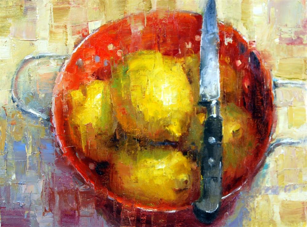 """Waiting To Be Sliced"" original fine art by Julie Ford Oliver"