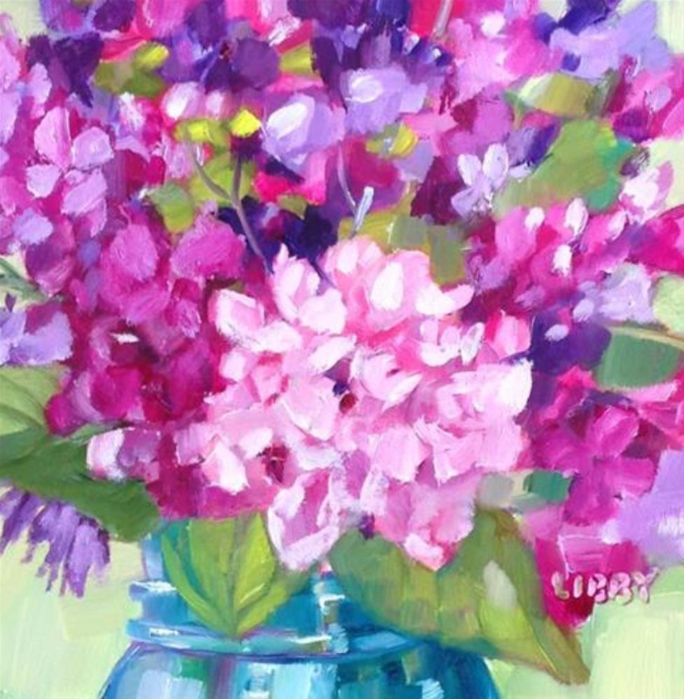 """Hearts and Flowers"" original fine art by Libby Anderson"
