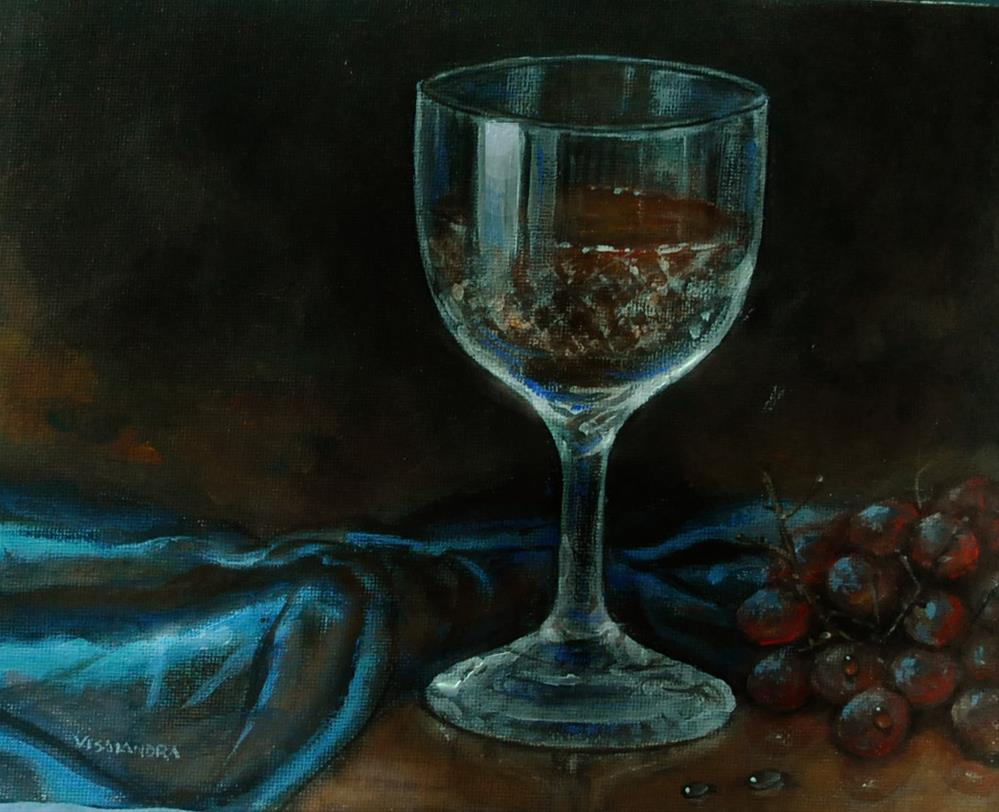 """wine glass"" original fine art by vishalandra dakur"