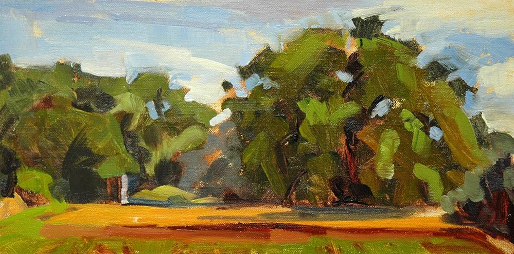 """Las Golondrinas plein air today."" original fine art by Miriam Hill"