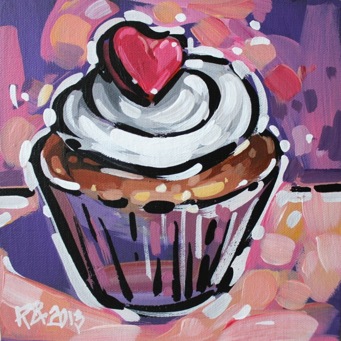 """Cupcake 17"" original fine art by Roger Akesson"