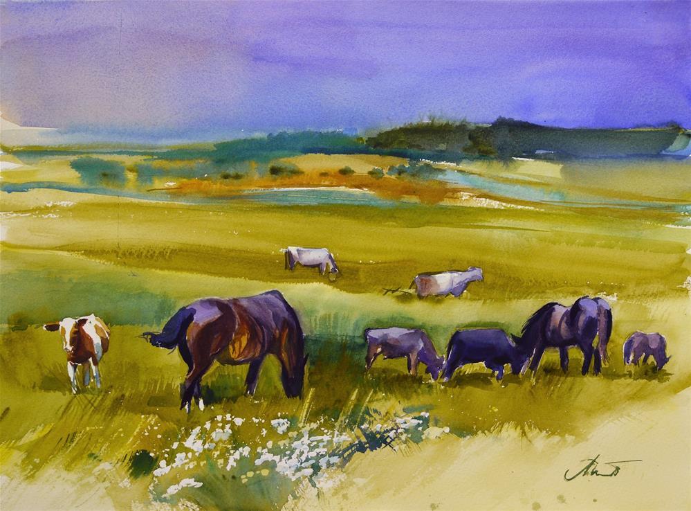 """after rain 3"" original fine art by Beata Musial-Tomaszewska"