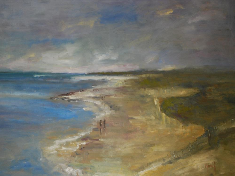 """Cliffs at Crystal Cove"" original fine art by Deborah Harold"