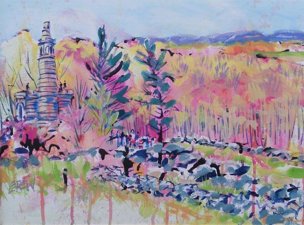 """Little Roundtop Redbuds by Larry Lerew 120401"" original fine art by Larry Lerew"