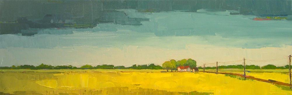"""Summer Rain II"" original fine art by Donna Walker"