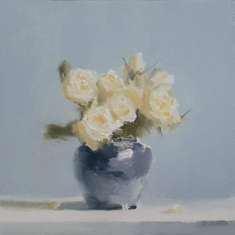 """""""Roses in Blue"""" original fine art by Neil Carroll"""