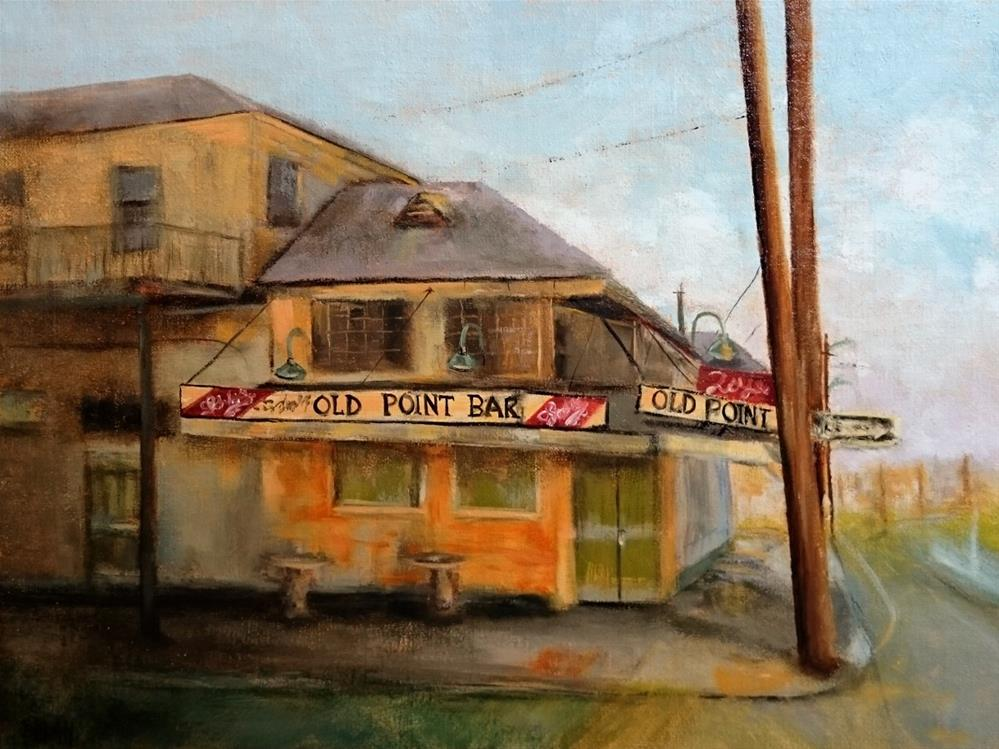 """Sunrise At the Old Point Bar Algiers LA"" original fine art by Dalan Wells"