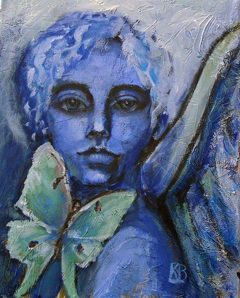 """Luna Angel"" original fine art by Kathleen Barnes"