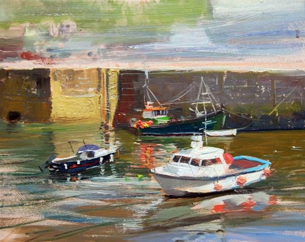 """Cornwall Series I (Porthleven)"" original fine art by Adebanji Alade"