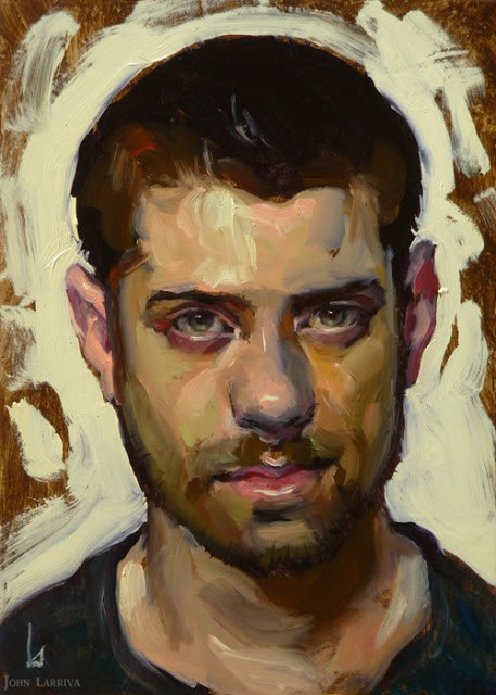"""Man with Beard"" original fine art by John Larriva"