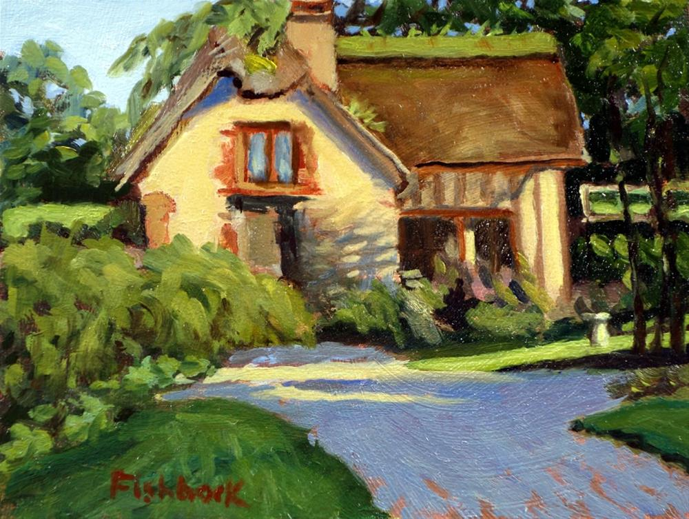 """Honfluer Cottage, France"" original fine art by Daniel Fishback"