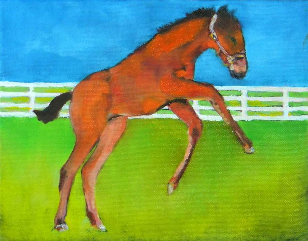 """Jump!"" original fine art by De Selby"