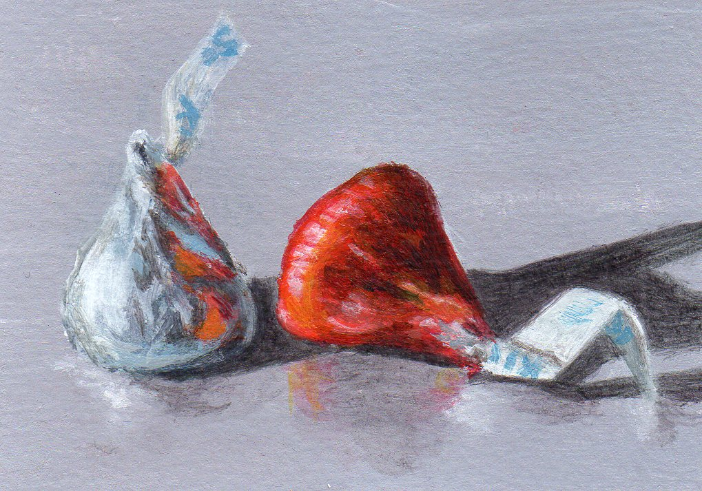"""Love & Kisses"" original fine art by Debbie Shirley"
