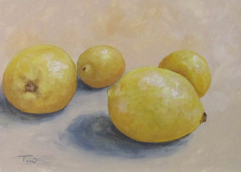 """June Lemons"" original fine art by Torrie Smiley"