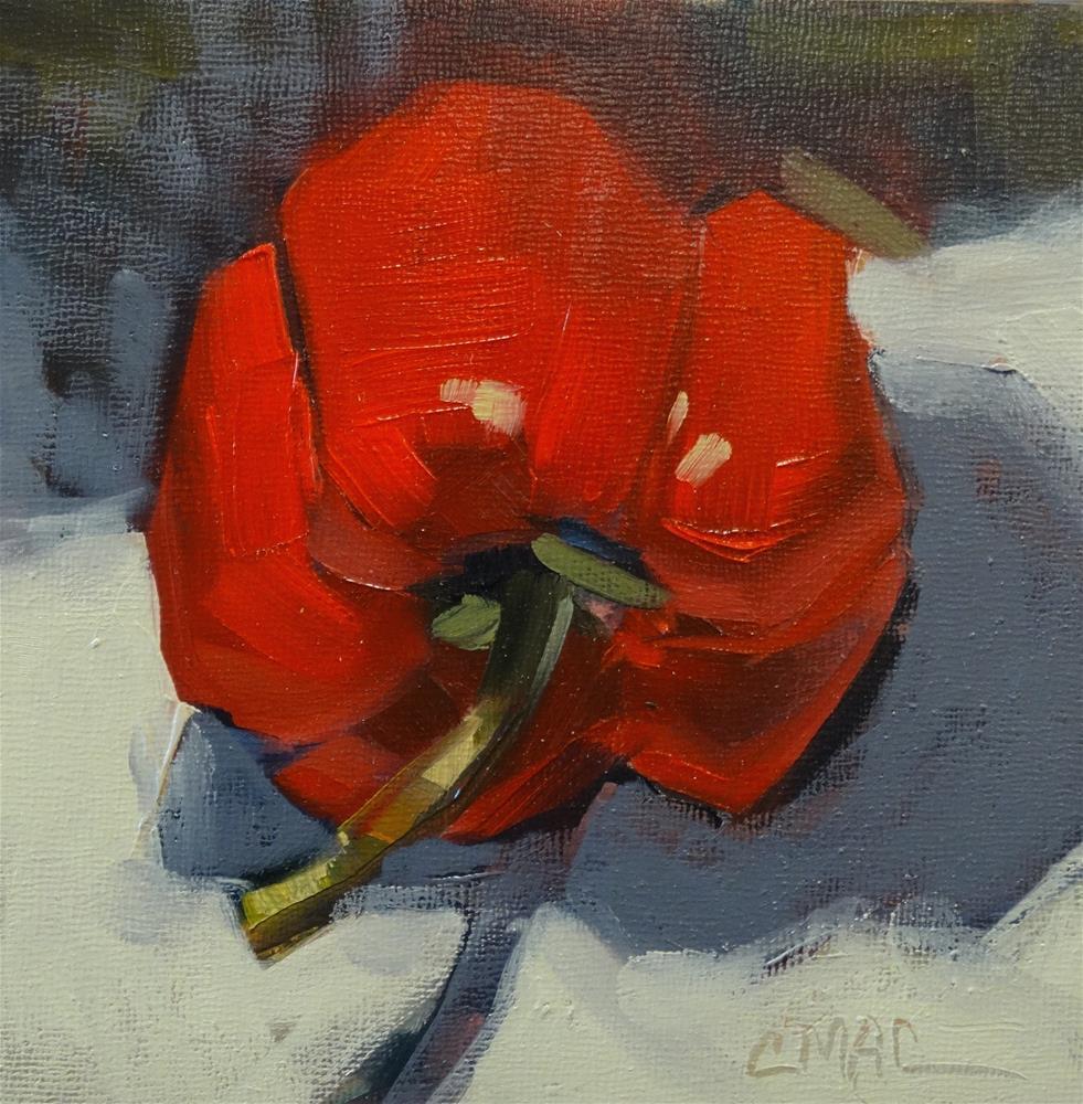 """Hot Red"" original fine art by Carolyn McDonald"