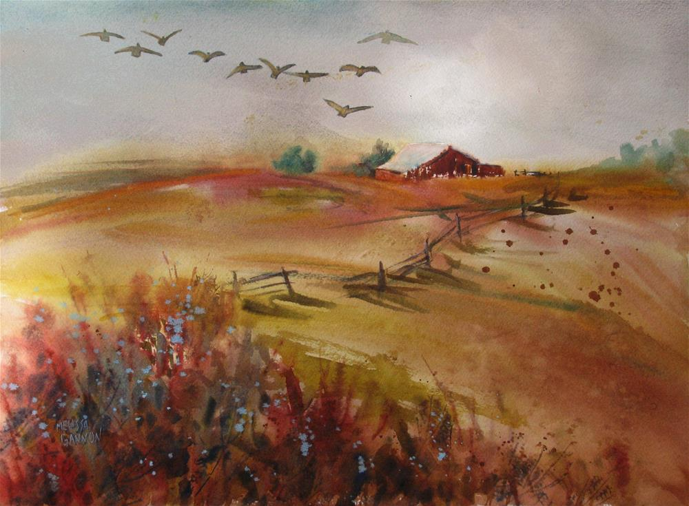 """Looking for a Good Place to Land"" original fine art by Melissa Gannon"