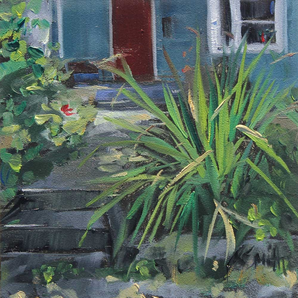 """the paint the grass challenge"" original fine art by Kim Smith"