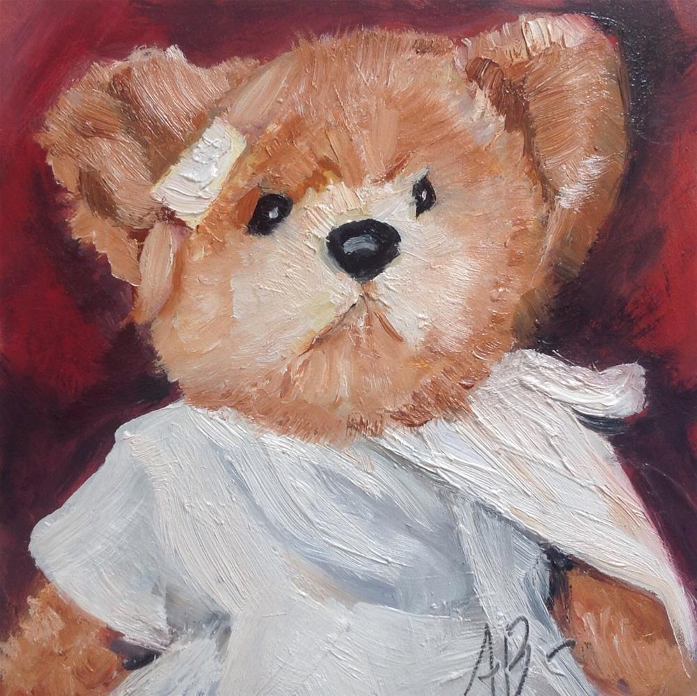 """Teddy Bear Wounded"" original fine art by Annette Balesteri"