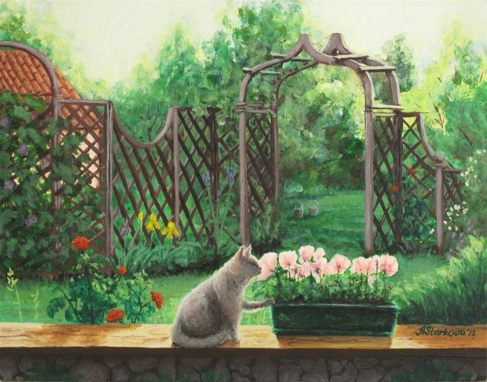 """""""Secret garden"""" original fine art by Anna Starkova"""